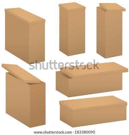 Box set. Raster illustration. - stock photo