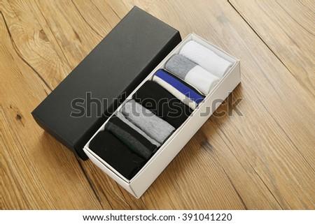 Box socks - stock photo