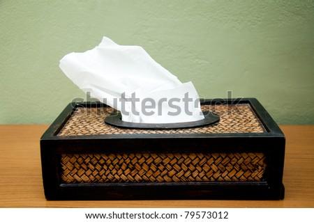 Box Tissues - stock photo