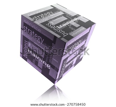 Box with business marketing words - stock photo