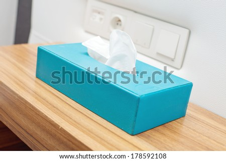 box with napkin - stock photo