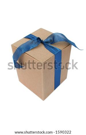 box with ribbon - stock photo