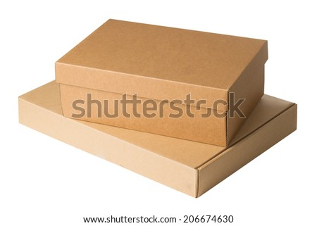 Boxes isolated on a white background