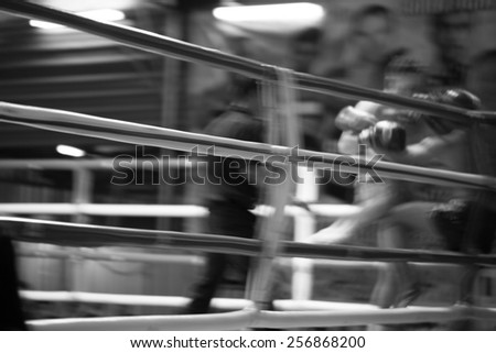 boxing activity abstract background. Blur motion. - stock photo