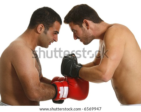 boxing combat - stock photo