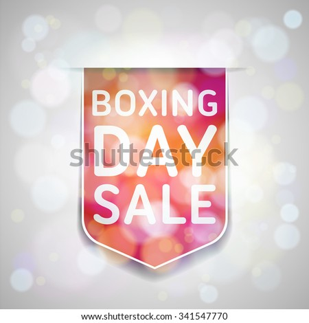 Boxing Day Sale - stock photo