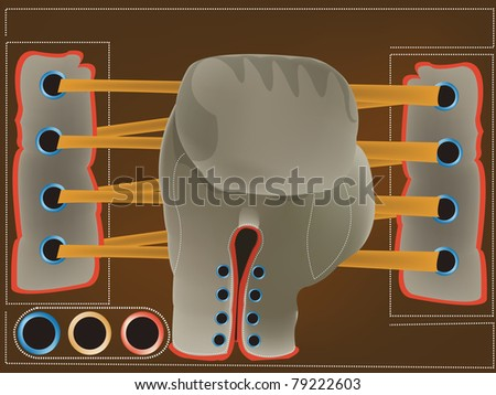 boxing glove abstract design - stock photo