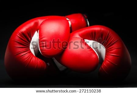 Boxing Glove, Fighting, Winning. - stock photo