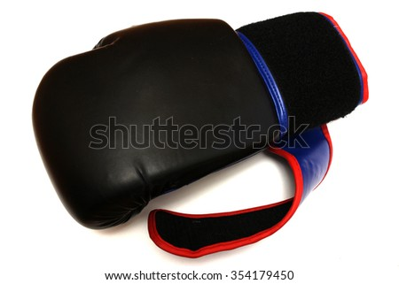 Boxing glove on a white background - stock photo