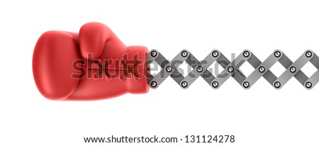 Boxing glove surprise - stock photo