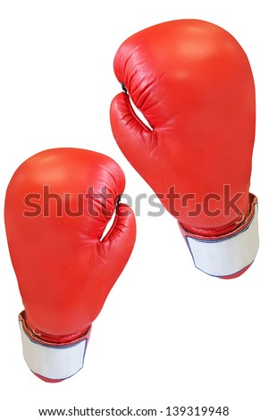 boxing glove under the white background
