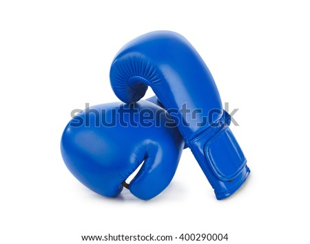 Boxing gloves isolated on white background - stock photo