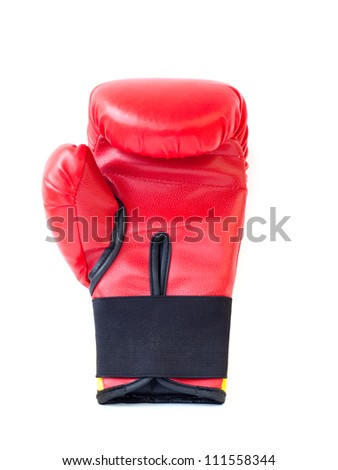 Boxing gloves with white background - stock photo