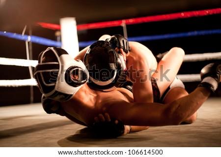 boxing match - stock photo