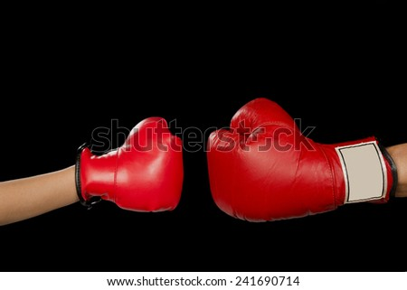 Boxing match waiting to happen. - stock photo