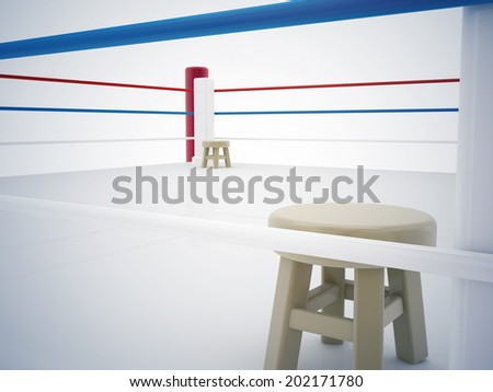 boxing ring - stock photo