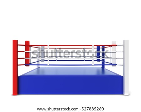 Boxing ring. 3d illustration isolated on white background