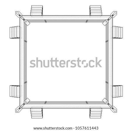 Boxing ring on white background 3 d stock illustration 1057611443 boxing ring on white background 3d illustration wire frame style ccuart Images