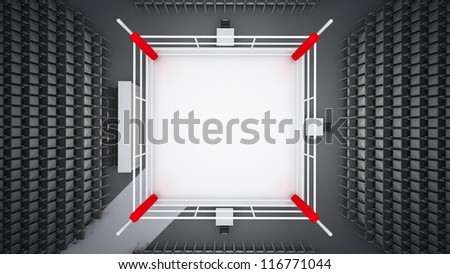 Boxing ring render - stock photo