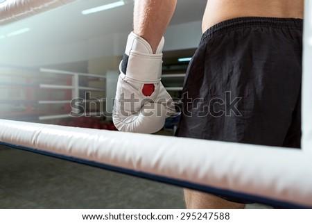 Boxing, sport, ring. - stock photo