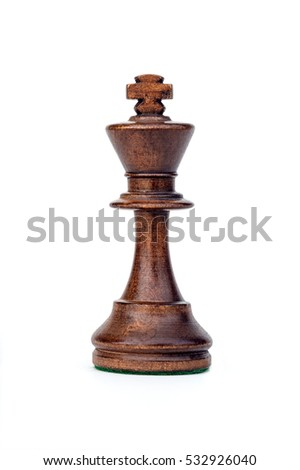 boxwood black king chess piece isolated
