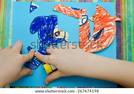 boy adhesion Images - stock photo