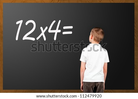 boy at school - stock photo