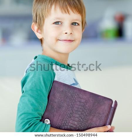 boy book - stock photo