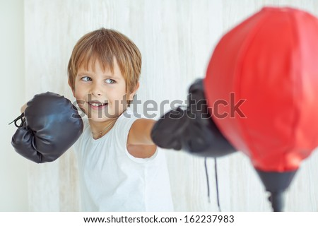 Boy boxing