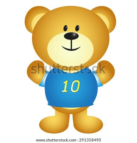 Boy Cartoon Bear - stock photo