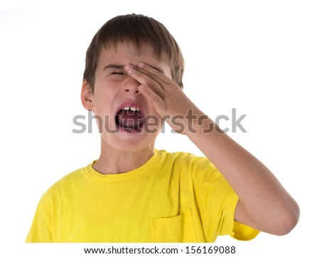boy crying