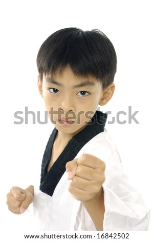 boy doing karate