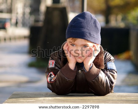 boy dreaming - stock photo