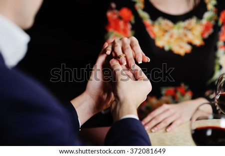 Boy Girl Dress Wedding Ring Hands Stock Photo Royalty Free