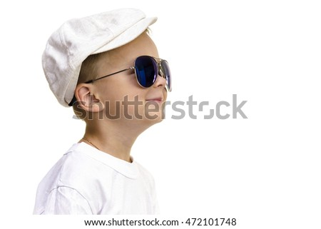 boy in fashionable glasses