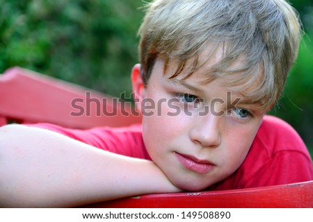 boy is sad - stock photo