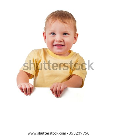 boy is smiling isolated on a white background