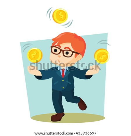 boy juggling coins
