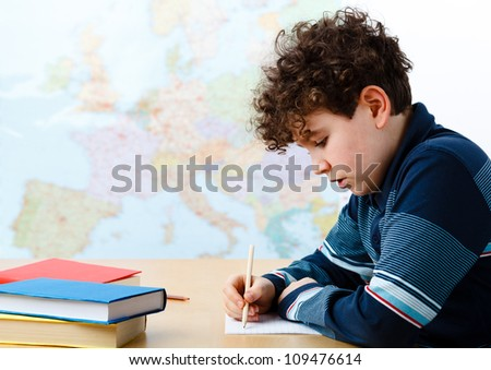 Boy learning