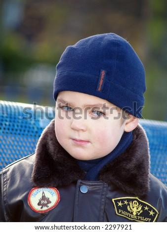 boy looking - stock photo