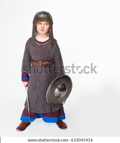 boy medieval warrior baby in knight costume boy in a knightly helmet sword  sc 1 st  Shutterstock & Boy Medieval Warrior Baby Knight Costume Stock Photo (Royalty Free ...