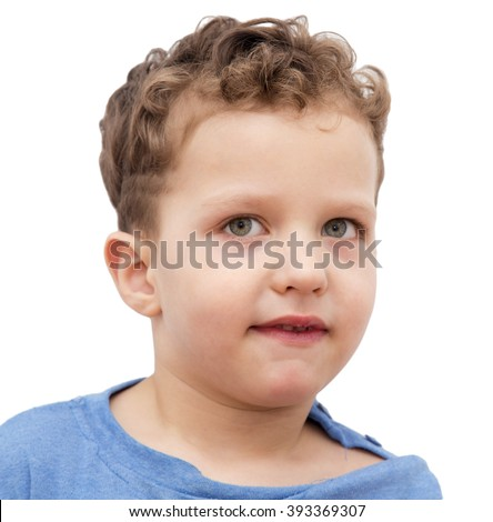 boy on a white background