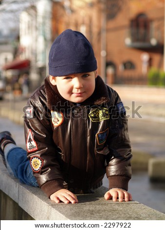 boy playing - stock photo