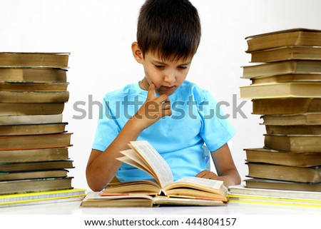 Boy read books