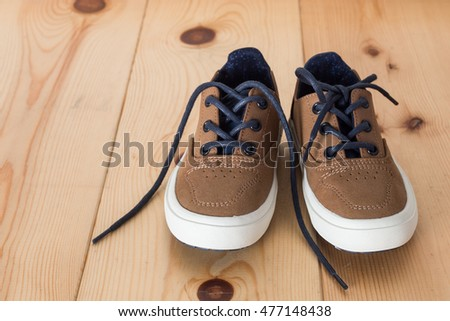 Boy`s shoes with laces