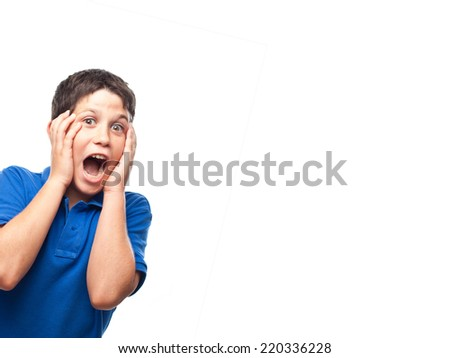 boy screaming - stock photo