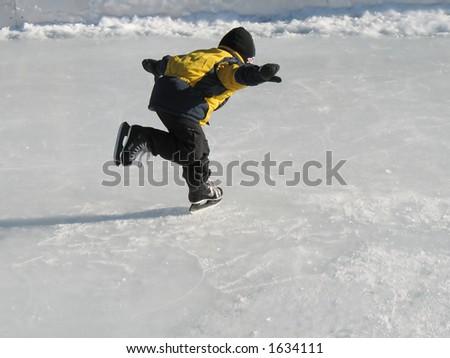 Boy skating - stock photo