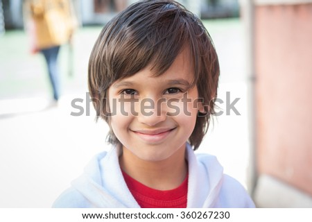 Boy tourist in Venice Italy - stock photo