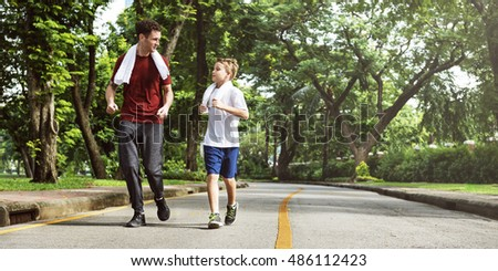 Boy Training Outdoors Exercise Movement Concept