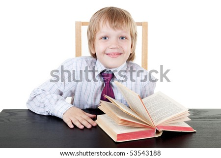 Boy with book - stock photo
